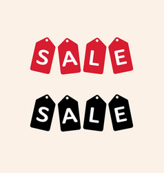 sale tag isolated red hanging sales tags vector image