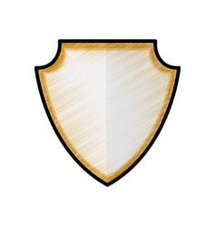 Security shield draw vector