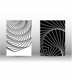set of abstract patterns with distorted lines vector image