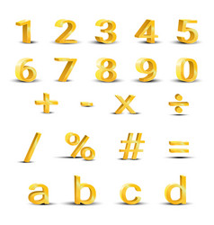 Set of golden numbers vector
