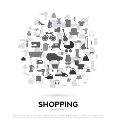 shopping abstract background for advertising vector image