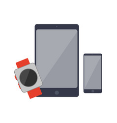 smartphones and watch set vector image