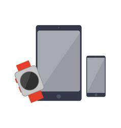 smartphones and watch set vector image