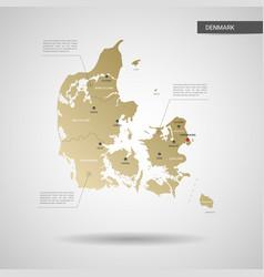 Stylized denmark map vector