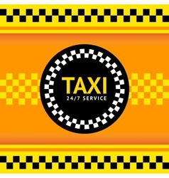 Taxi symbol vector image vector image