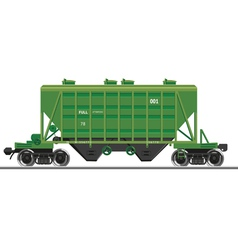 Train wagon vector image
