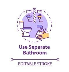 Use separate bathroom concept icon self-isolation vector