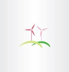Wind turbine icon logo vector