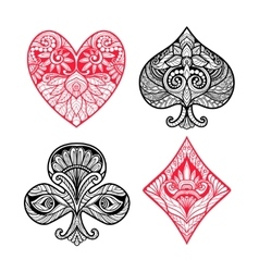 Card Suits Set vector image vector image