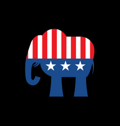 republican elephant and us flag political party vector image vector image