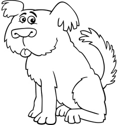 Sheepdog shaggy dog for coloring book vector image vector image