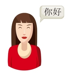Woman translator icon cartoon style vector image vector image