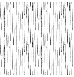 Abstract black ink grunge lines seamless pattern vector image vector image