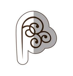 brown decorative swirl icon vector image
