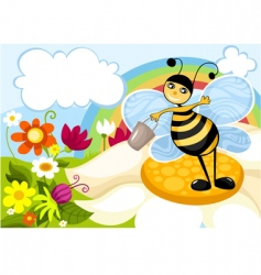 Buzzy bee vector