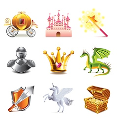 fairy tail icons vector image