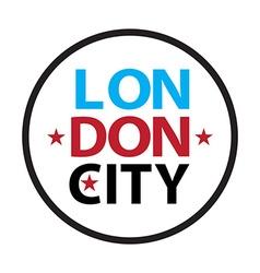 Retro London logo vector image vector image