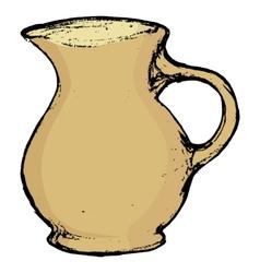ceramic pot vector image