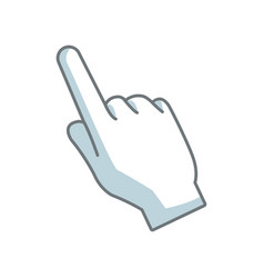 hand pointing cursor finger symbol vector image
