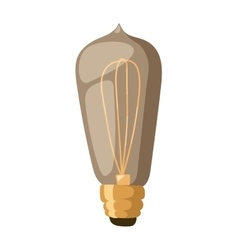 Old retro lamp vector image vector image