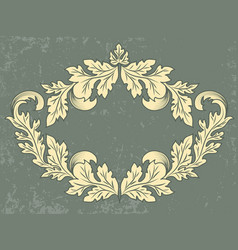vintage frame with grunge background vector image