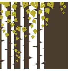 Background with birch branches vector