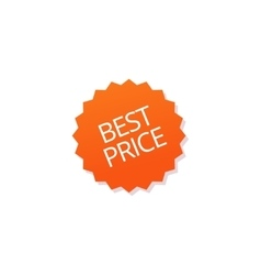 Best price badge tag isolated sticker icon vector image