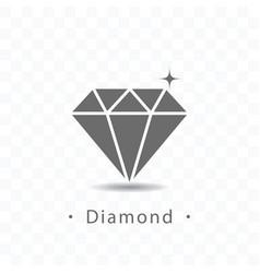 diamond icon on transparent vector image