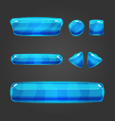 Set of button for game design - 2 vector image vector image