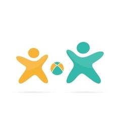 Sport logo design family logo template vector