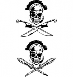 symbol with skull vector image vector image