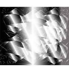 Abstract black and white metal polygonal backgroun vector