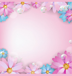 abstract colored natural flower background vector image