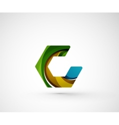 Abstract geometric company logo hexagon shape vector