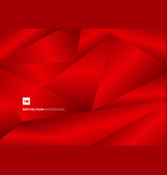 abstract gradient red low poly background and vector image