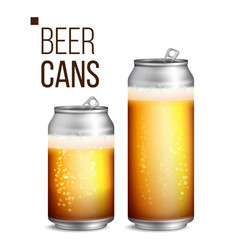 beer cans 500 and 330 ml can blank beer vector image