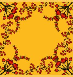 Berries natural background vector