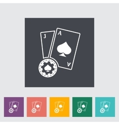 Blackjack flat icon vector image vector image