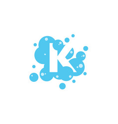 Bubble with initial letter k graphic design vector
