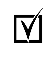 Check mark symbol vector