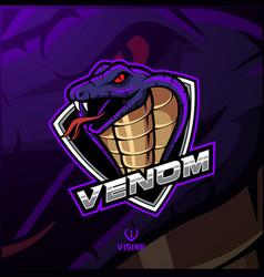 Cobra head mascot logo design vector