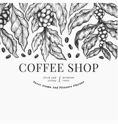 Coffee design template vintage coffee background vector