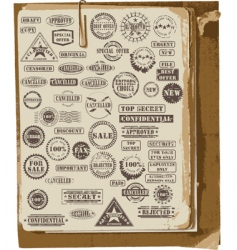 Collection rubber stamps vector