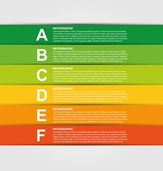 Colorful infographic Design element vector image