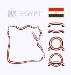 Colors of Egypt vector image