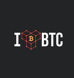 concept for bitcoin lover vector image