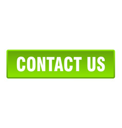 contact us button us square green push vector image