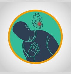 Coronary artery disease icon vector