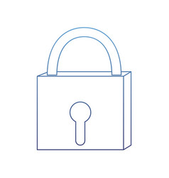 Degraded outline closed padlock object security vector