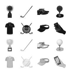 Emblem of the golf club cap with a visor golfer vector